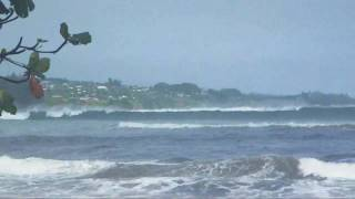 12 foot waves at hilo bay, Hawaii on Big Island