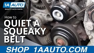Quiet a Squeaky engine serpentine belt by cleaning, from 1A Auto