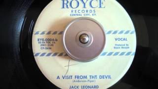 Jack Leonard - A Visit from the devil  Rockabilly on ROYCE