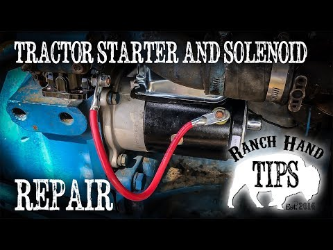 tractor starter and starter solenoid replacement ranch hand tips  1978 ford 3000 solenoid wiring diagram #10
