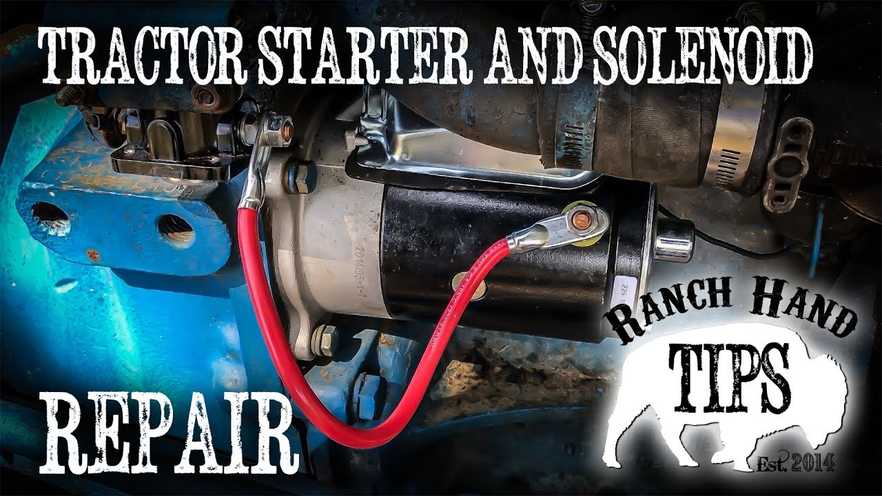 Tractor Starter and Starter Solenoid Replacement - Ranch Hand Tips on tecumseh wiring diagrams, farmall wiring diagrams, caterpillar wiring diagrams, deutz wiring diagrams, ingersoll rand wiring diagrams, farmtrac wiring diagrams, minneapolis moline wiring diagrams, case wiring diagrams, omc wiring diagrams, ford wiring diagrams, kobelco wiring diagrams, onan wiring diagrams, bobcat wiring diagrams, toro wiring diagrams, carrier transicold wiring diagrams, cushman wiring diagrams, nissan wiring diagrams,