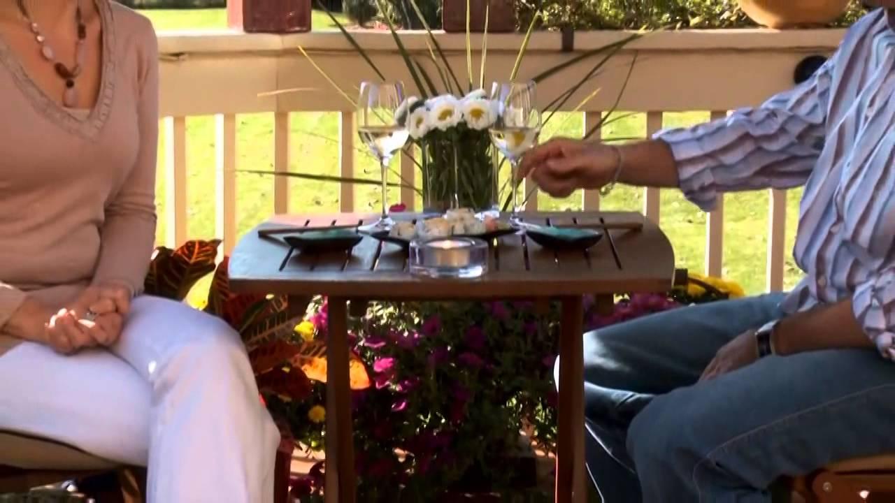 Outdoor Interiors 3pc Bistro Set Video