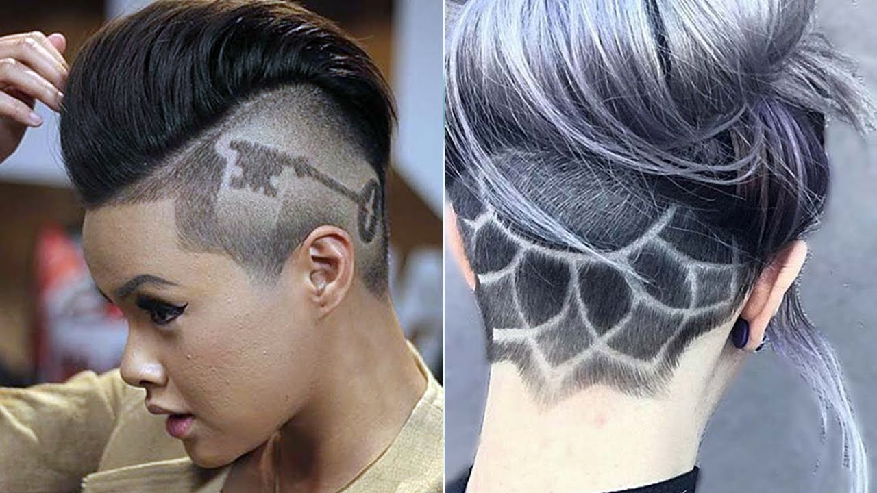 extreme undercut ideas for women & girls ♛ undercut haircut women ♛ nape under cut women design