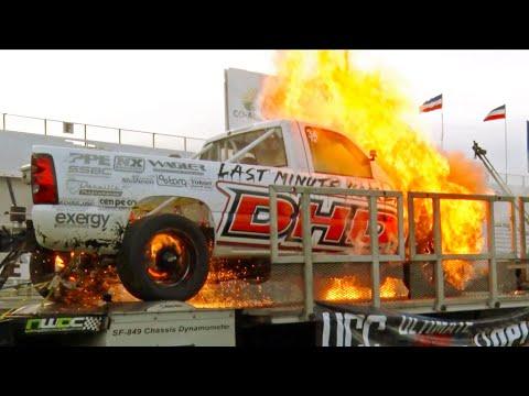 MASSIVE FIRE - Runaway Diesel on the Dyno!