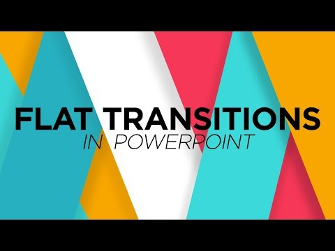 How to make Flat Transitions in PowerPoint - Motion Graphics Tutorial