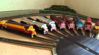 maqueta de ferromodelismo  en construccion  modelos de ferrocarriles argentinos