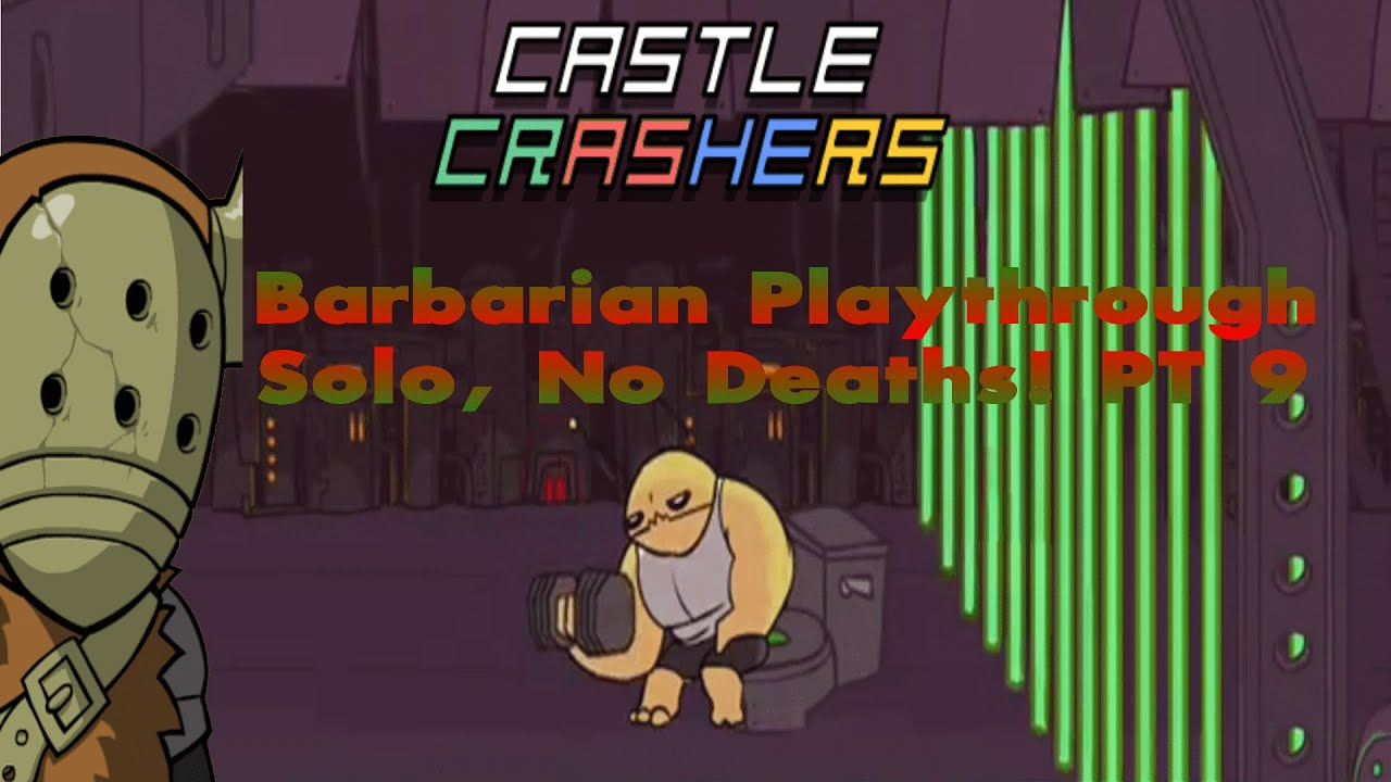 Castle Crashers Remastered Solo, 0 Deaths & Live Twitch Stream  (Part 9)