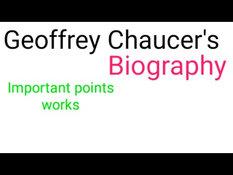 Biography Of Geoffrey Chaucer. Father Of English Literature. English Literature Important Biographie