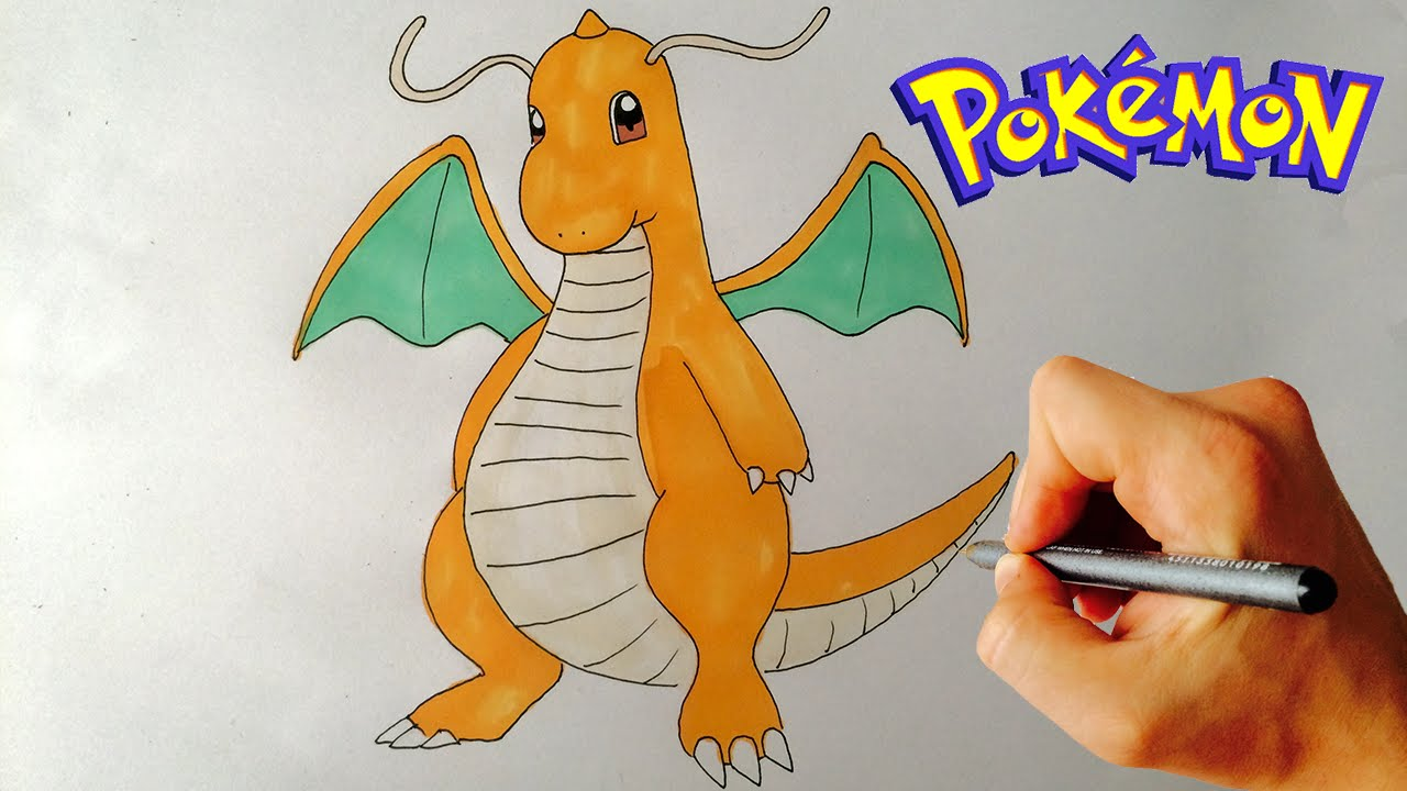 how to draw dragonite pokemon step by step drawing