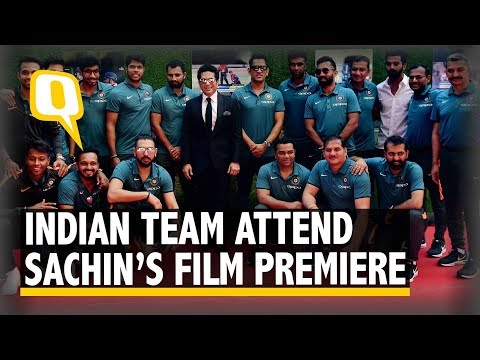 The Quint: Indian Cricket Team Attend Sachin Tendulkar's Film Premiere