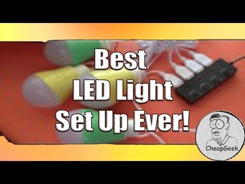 Best Camping or Portable LED Light Setup Ever!!!!