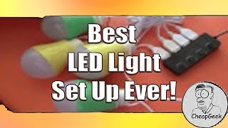 Beste Camping of Draagbare LED-Licht Setup Ooit!!!!