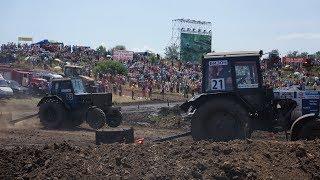 Крутые гонки на тракторах. Бизон трек шоу