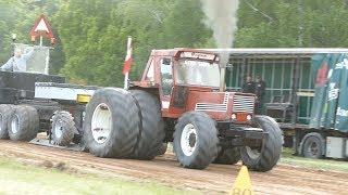 Fiat 1580 DT Pulling The Sledge at Pulling Event in Lyngså | Tractor Pulling Denmark