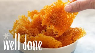 How to Make Microwavable Keto Cheese Crisps | Snack Recipes | Well Done