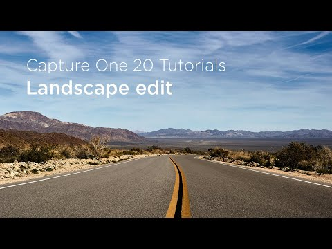 Capture One 20 Tutorials | Landscape edit thumbnail