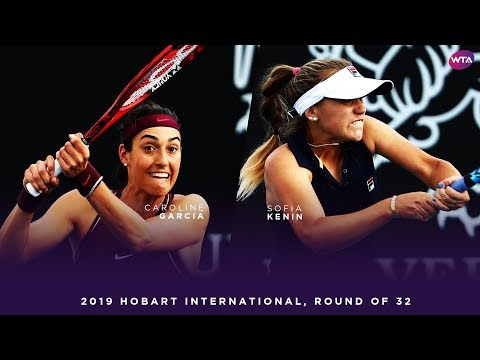 Caroline Garcia vs. Sofia Kenin | 2019 Hobart International Round of 32 | WTA Highlights