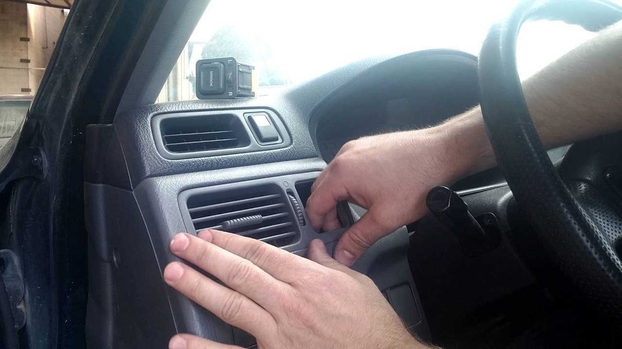 hight resolution of honda cr v how to change remove dash air vent heat a c