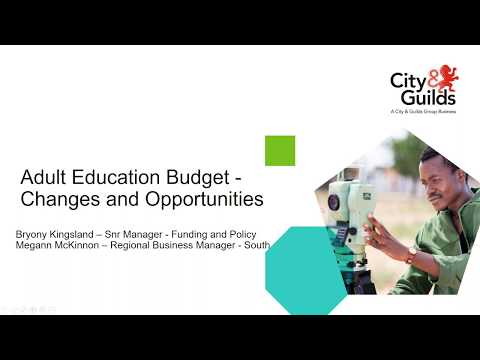 Adult Education Budget - Changes And Opportunities
