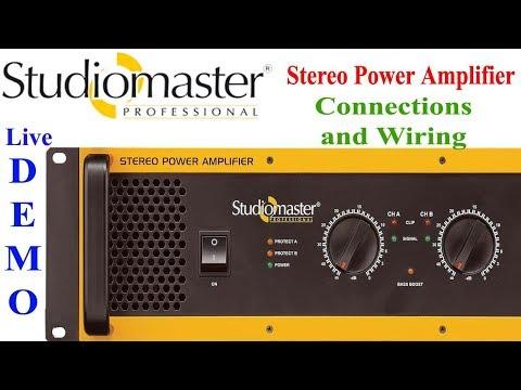 कनेक्शंस और वायरिंग के साथ देखे  Studiomaster dja4000
