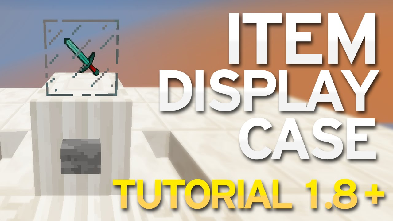 Minecraft (1.8+) - Item Display Case + Tutorial - YouTube