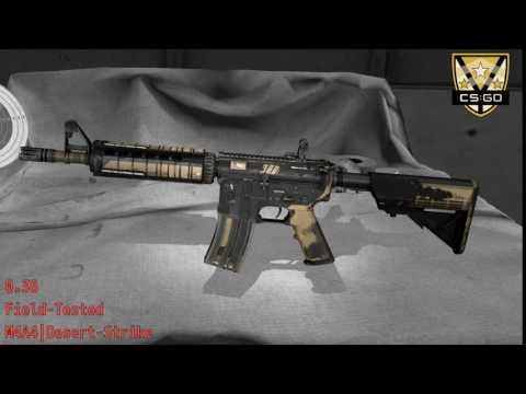 M4A4  Desert Strike Wear/Float
