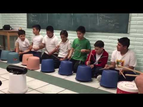 Mexico City School - Bucket Drumming Workshop