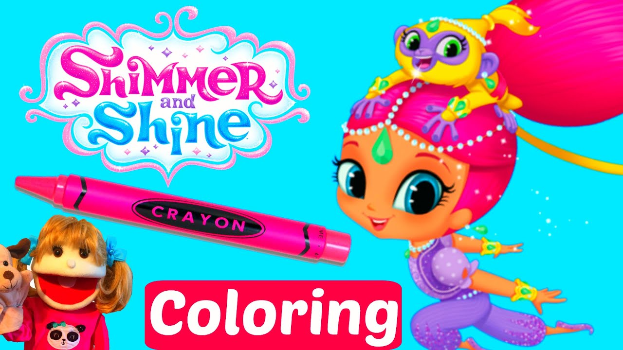 Shimmer And Shine Coloring Book Speed Colouring With Markers Kids Art Crafts