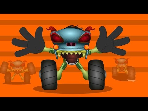 Haunted House Monster Truck   If You're Happy And You Know It   Video For Kids