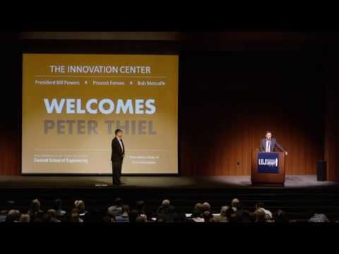 From Zero to One -  Peter Thiel at the Innovation Center at