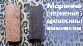 Морение (чернение) древесины аммиаком / Morin (blackening) of wood with ammonia