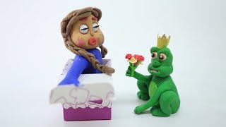 BABY SUPERHERO FROG PRINCE TRANSFORMATION CLAYMATION PLAY DOH CARTOONS FOR KIDS