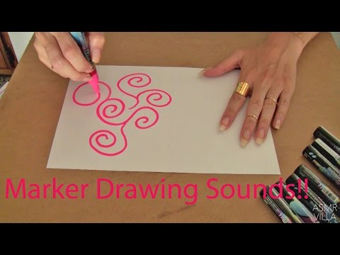 ASMR * Theme: Drawing Sounds * Tapping & Scratching  * Fast Tapping * No Talking * ASMRVilla
