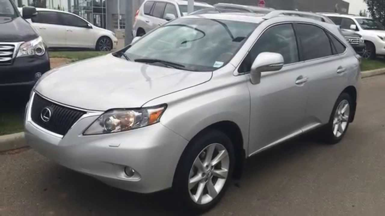 Lexus Certified Pre Owned 2010 Rx 350 Awd 4dr Silver Black