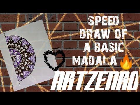 speed-draw-of-a-basic-mandala-semi-circular-piece||artzenro||