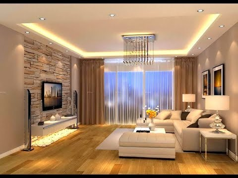Beautiful Luxurious Modern Living Room And Ceiling Designs Trend Of 2018  Plan N  Design