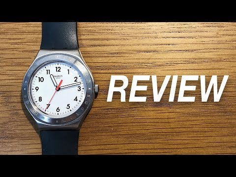 Classic White Dial Watch By Swatch - Swatch Black Reflexion Review (YGS135)