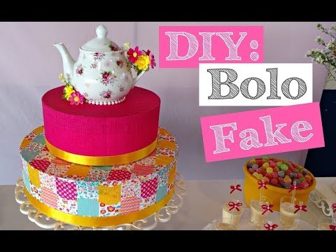 DIY - Bolo Fake (chá de cozinha) - The Theory of Friends