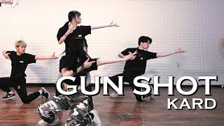 [4X4] KARD (카드) - GUN SHOT (건샷) I Performance practice video MIRRORED I DANCE COVER