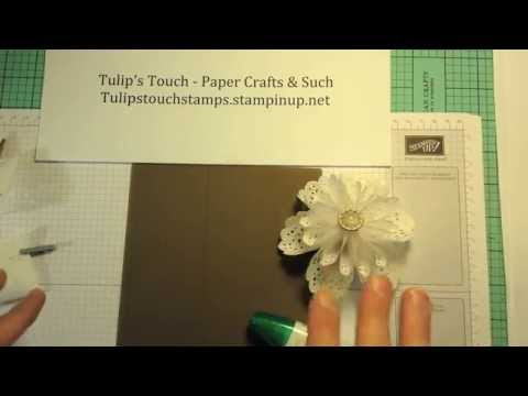 Origami White Tea Lace Paper Doily Flower Tutorial Youtube