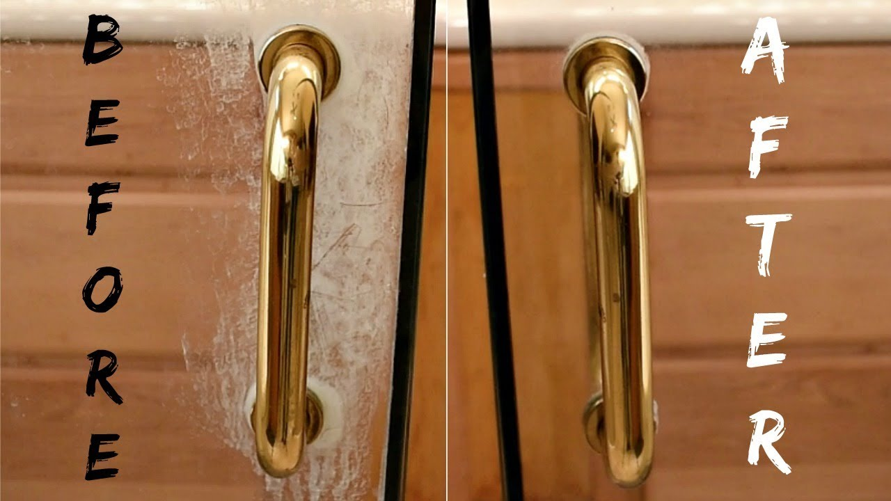 how to clean glass shower doors with lemon does it really work youtube. Black Bedroom Furniture Sets. Home Design Ideas