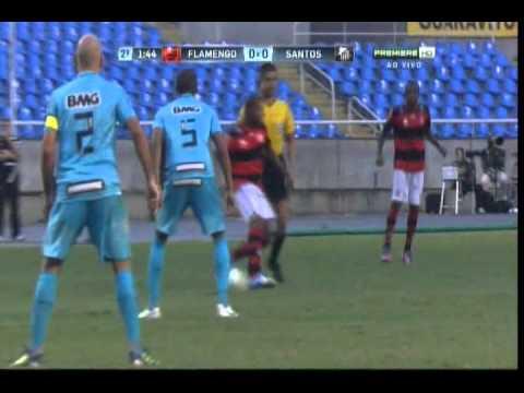 Flamengo 1 x 0 Santos - Campeonato Brasileiro Série A 2012 - 17/06/2012 - Jogo Completo