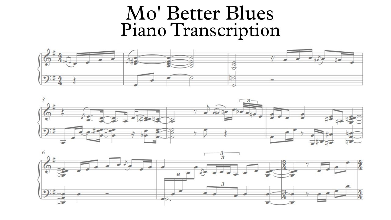 Mo's Better Blues - Yohan Kim (Piano Transcription)