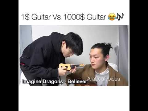 1$ guitar vs 1000$ guitar, I'm NOT Brand Concious after Watching this!