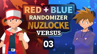 PLEASE CHECK IN MORE! | Pokemon Red & Blue Randomizer Nuzlocke Versus w/ NumbNexus! (Episode 3)