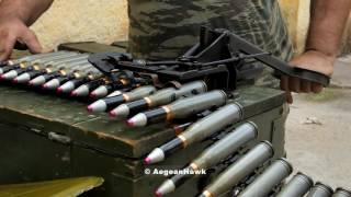ZU 23-2 ammunition linking and magazine loading.