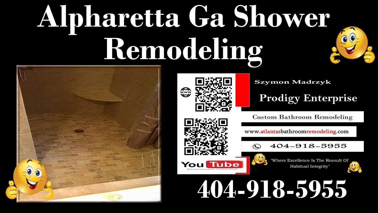 Alpharetta Ga Shower Remodel - Bathroom Remodeling ...