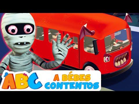 Las Ruedas del Autobús en Halloween - Canciones Infantiles | A Bebés Contentos
