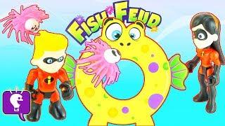 INCREDIBLES FISH FEUD! Kids Game Play by HobbyKidsTV