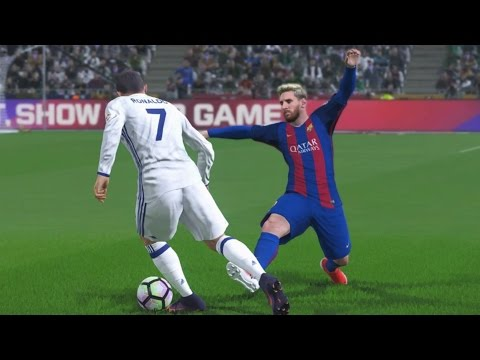 PES 2017 GAMEPLAY PS4 |REAL MADRID VS BARCELONA |UEFA CHAMPIONS LEAGUE